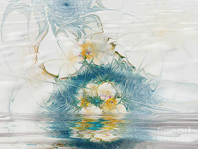 Flooding Digital Art - Dreamy World In Blue by Deborah Benoit