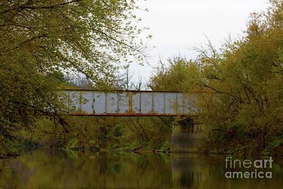 Dreary Bridge Dreary Day Art Print by Alan Look