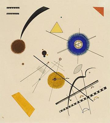 Kandinsky Wall Art - Painting - Drei Freie Kreise Three Free Circles by Wassily Kandinsky