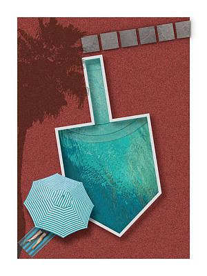 Digital Art - Dreidel Pool by Stan  Magnan