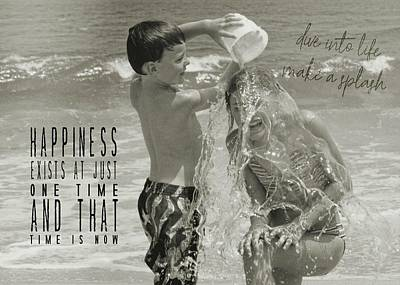 Drenched Quote Art Print by JAMART Photography