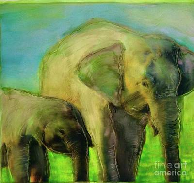 Painting - Dreaming Of Elephants by FeatherStone Studio Julie A Miller