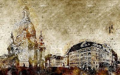 Digital Art - Dresden Frauenkirche by Michael Kuelbel