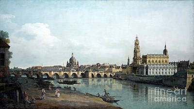 Rights Painting - Dresden Seen From The Right Bank Of The Elbe by Celestial Images