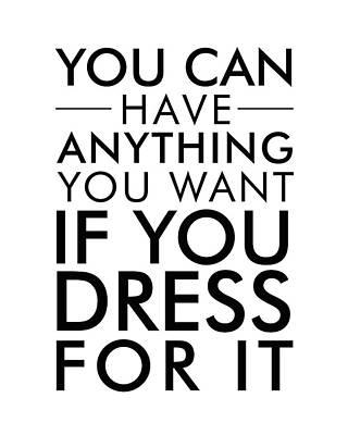 Dress For It Art Print