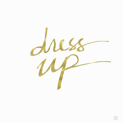 Dress Up Gold- Art By Linda Woods Art Print by Linda Woods