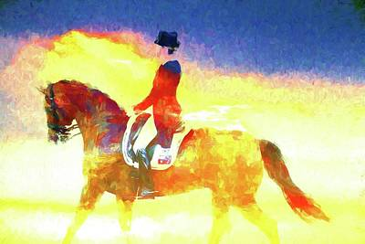Photograph - Dressage Glows by Alice Gipson