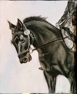 dressage Horse Original by Sarah Ryan