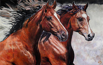 Painting - Dressage Horses - Elegance And Majesty by Jana Fox