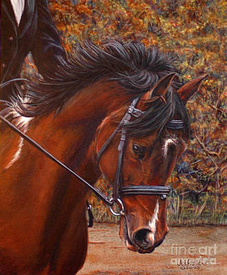 Painting - Dressage by LeRoy Jesfield