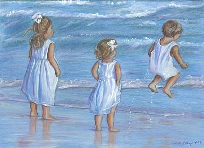 Drawing - Dressed In White by Linda Nielsen