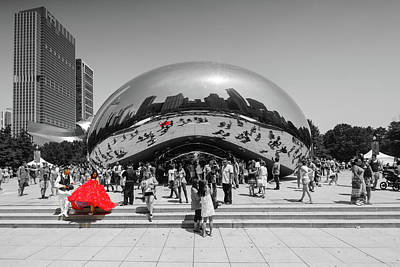 Selective Color Photograph - Dresses Float Like Clouds by Scott Campbell