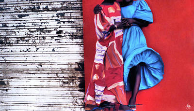 Photograph - Dresses In A Senegal Breeze by Wayne King