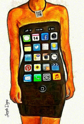 Screen Digital Art - Dressing Iphone - Da by Leonardo Digenio