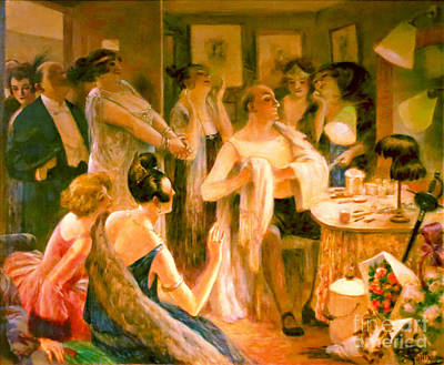 Dressing Room 1922 Print by Padre Art