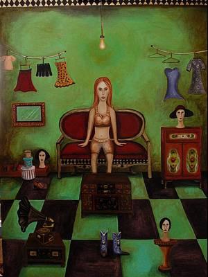 Dark Humor Painting - Dressing Room 2 by Leah Saulnier The Painting Maniac