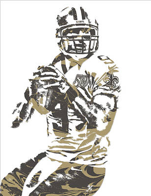 News Mixed Media - Drew Brees New Orleans Saints Pixel Art 7 by Joe Hamilton