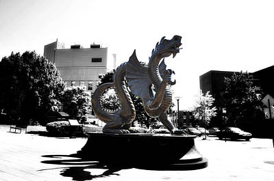Phillies Digital Art - Drexel Dragon by Bill Cannon