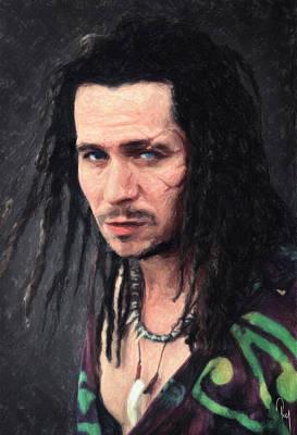 Dennis Hopper Painting - Drexl Spivey by Taylan Apukovska