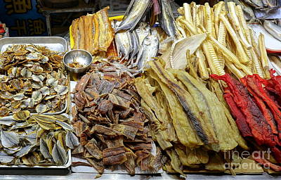 Photograph - Dried Fish Is Sold At The Market by Yali Shi