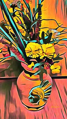 Photograph - Dried Flower Arrangement by Floyd Snyder