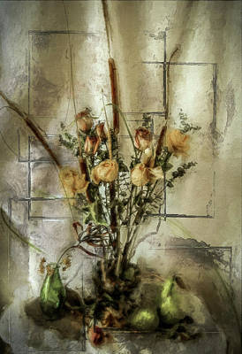 Flower Still Life Mixed Media - Dried Flowers by Rosemary Smith