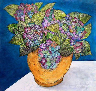 Painting - Dried Hydrangea by Janet Immordino