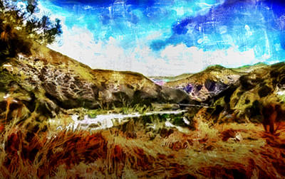 Mixed Media - Dried Mountain Stream by Joseph Hollingsworth