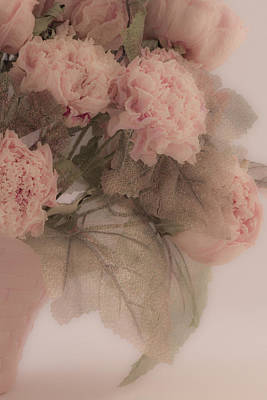 Floral Loveliness Photograph - Dried Pink Peonies by Sandra Foster