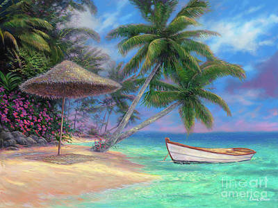 Seaside Painting - Drift Away by Chuck Pinson