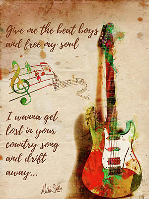 Garth Brooks Digital Art - Drift Away Country by Nikki Marie Smith