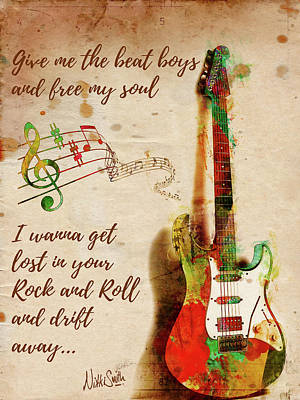Rolling Stones Wall Art - Digital Art - Drift Away by Nikki Marie Smith