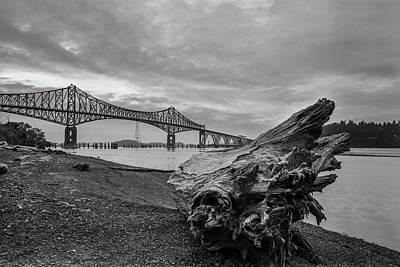 Photograph - Drift Stump And Bridge by HW Kateley