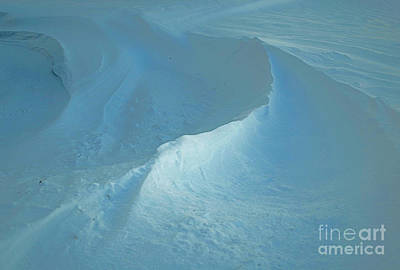 Snow Drifts Photograph - Drifted Snow Waves by Luther Fine Art