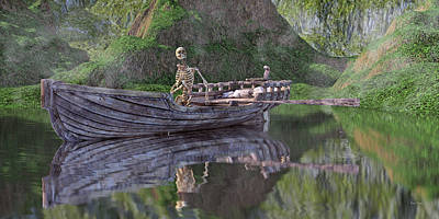 Spirits Photograph - Drifter On The Lake by Betsy Knapp