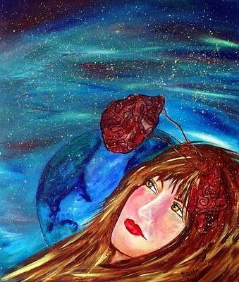 Brain Painting - Drifting Again... by Robin Monroe