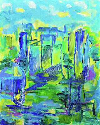 Painting - Cityscape by Haleh Mahbod