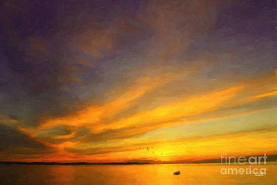 Painting - Drifting by Chris Armytage