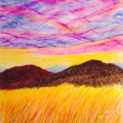 Drifting Fields Of The Mountains Art Print