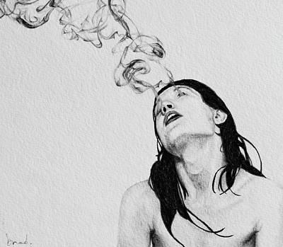 Abstract Sights Drawing - Drifting Gaze by Brad Loudon