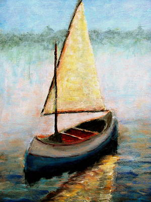 Painting - Drifting In The Mist by Sarah Barnaby