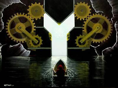 Atom Mixed Media - Drifting Into Serenity  by Travis  Ragan