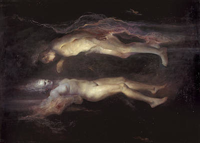 Women Together Painting - Drifting by Odd Nerdrum