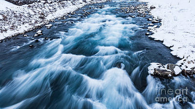 Photograph - Drifting River In Iceland by Anna Om