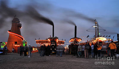 Helter-skelter Photograph - Drifting Steam At The Fair by Rob Hawkins