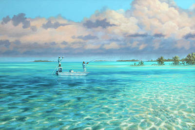 Wall Art - Painting - Drifting The Reef by Guy Crittenden