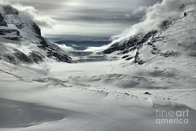 Photograph - Drifts And Clouds A The Athabasca Glacier by Adam Jewell