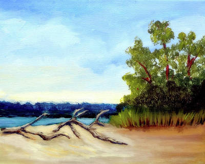 Painting - Driftwood And Carolina Pines by Katy Hawk