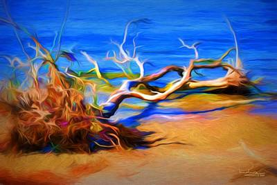 Digital Art - Driftwood by Ludwig Keck