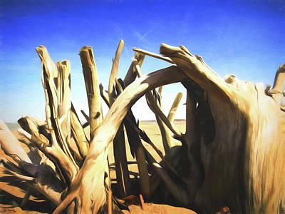 Digital Art - Driftwood Sculpture by Shawna Rowe